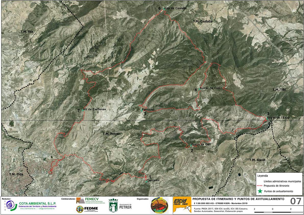 Mapa Carrera Elcid FalcoXtrem
